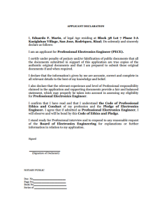 Applicant's Declaration