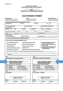 PEZA Form 1