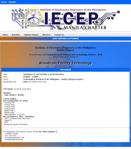 IECEP Manila Seminar 2