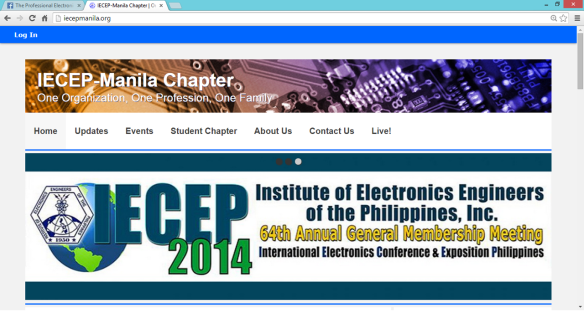 IECEP Manila Website updated