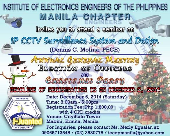 IECEP Manila Seminar for December 2014