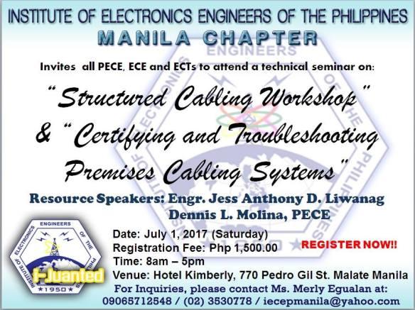 IECEP Manila Seminar (July 1, 2017)